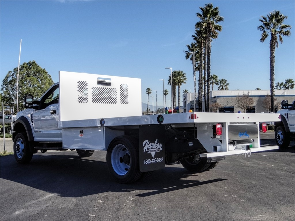 2019 F-550 Regular Cab DRW 4x2, Harbor Flatbed #FK5367DT - photo 1