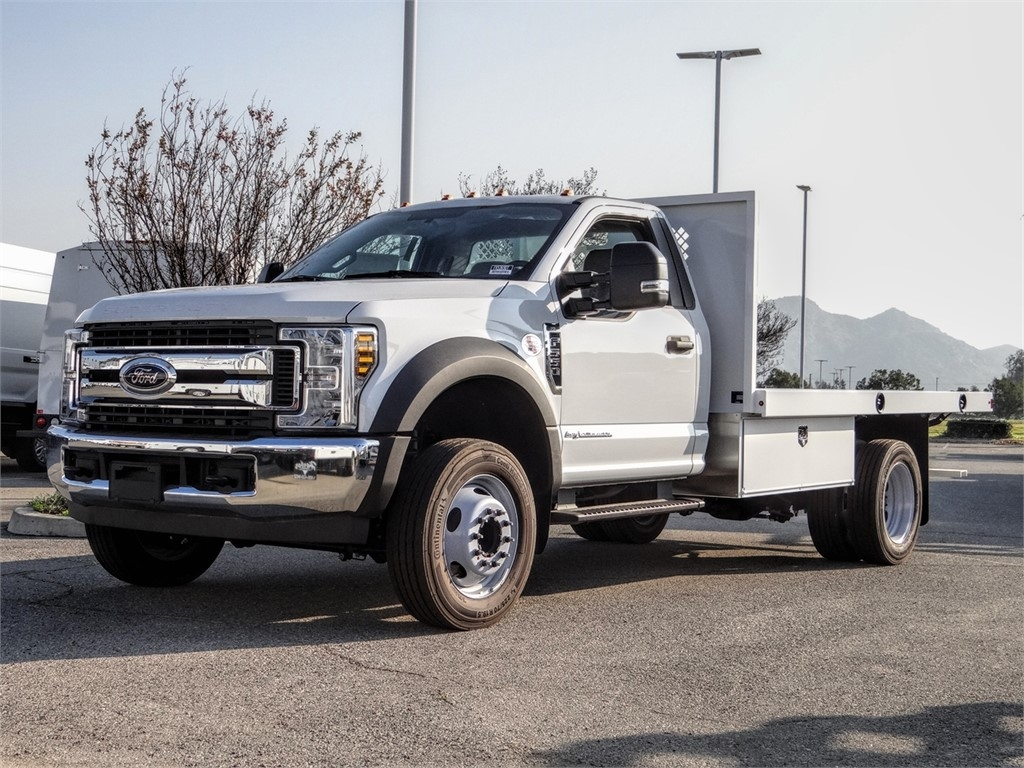 2019 F-550 Regular Cab DRW 4x2, Harbor Flatbed #FK5369DT - photo 1