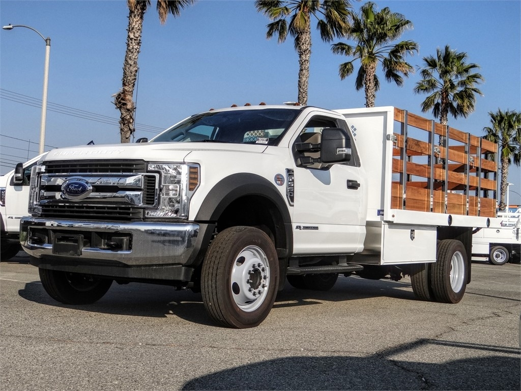 2019 F-550 Regular Cab DRW 4x2, Harbor Stake Bed #FK5372DT - photo 1