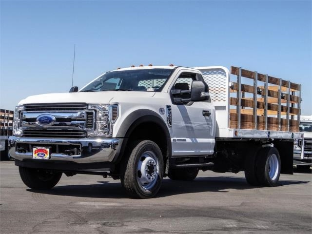 2019 F-550 Regular Cab DRW 4x2, Scelzi Stake Bed #FK5379DT - photo 1