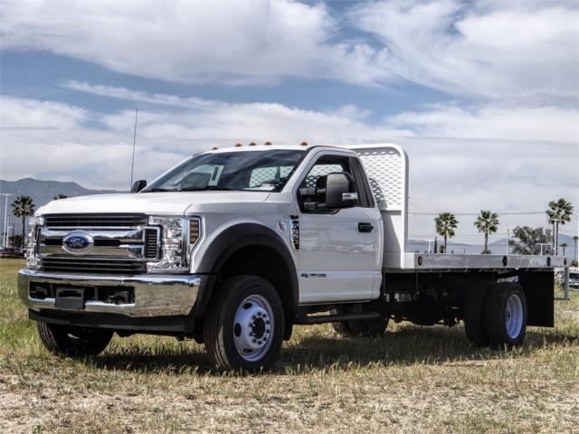 2019 F-550 Regular Cab DRW 4x2, Scelzi Flatbed #FK5390DT - photo 1