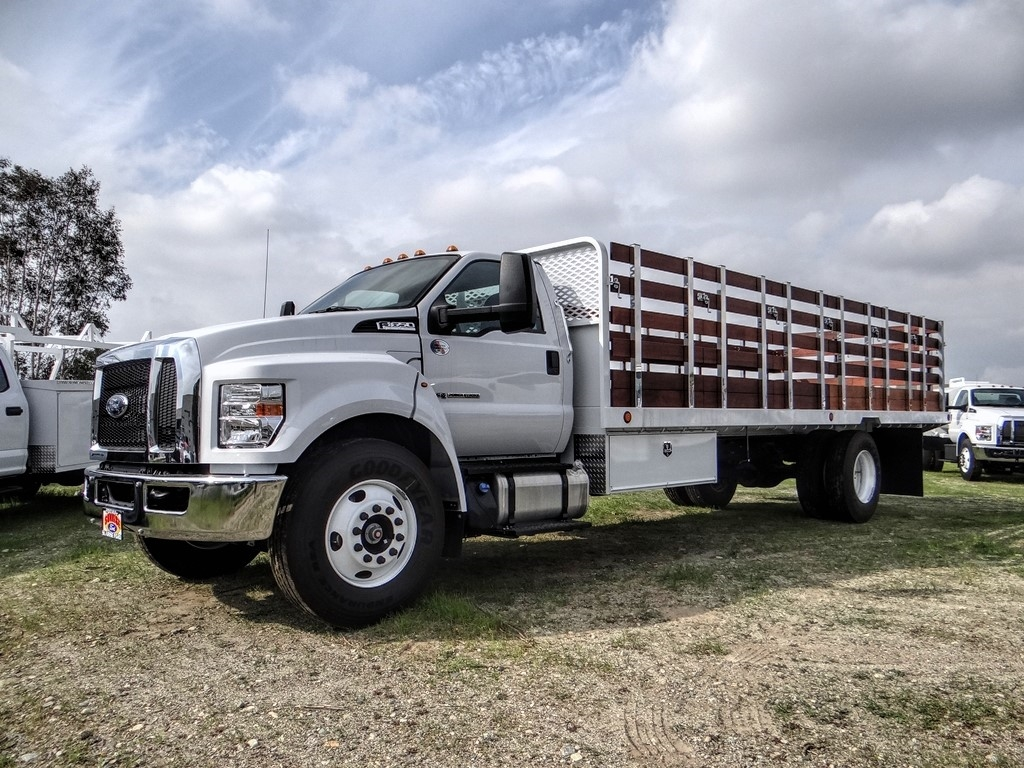 2019 F-650 Regular Cab DRW 4x2, Scelzi Stake Bed #FK5423 - photo 1