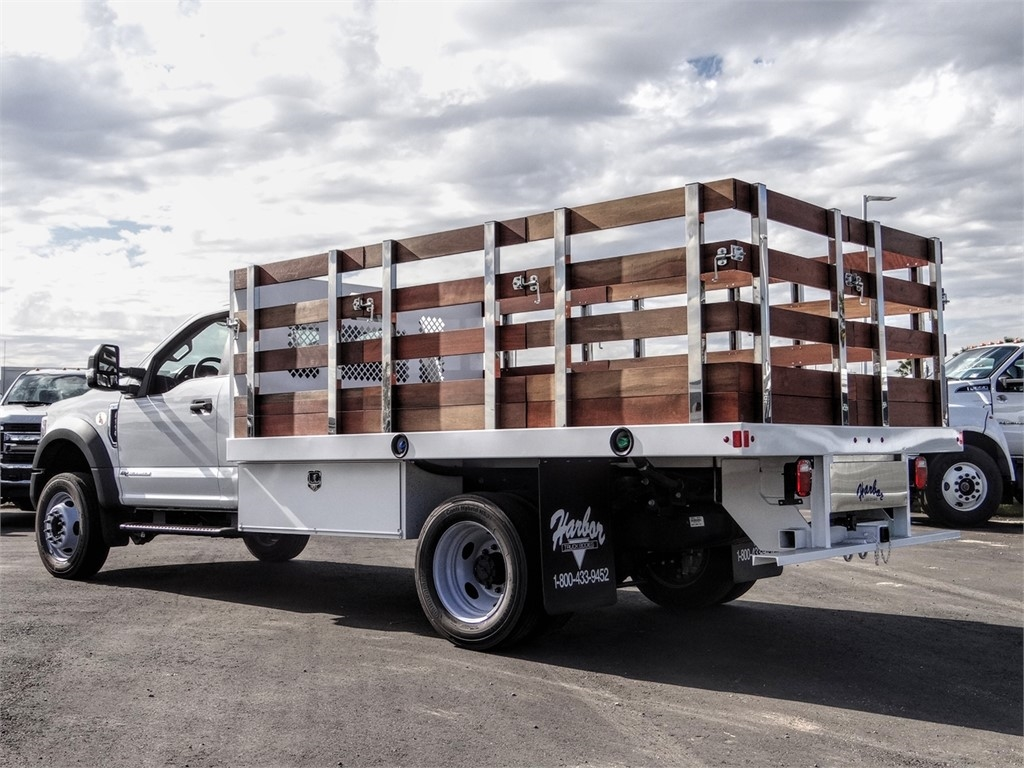 2019 F-550 Regular Cab DRW 4x2, Harbor Stake Bed #FK5466DT - photo 1