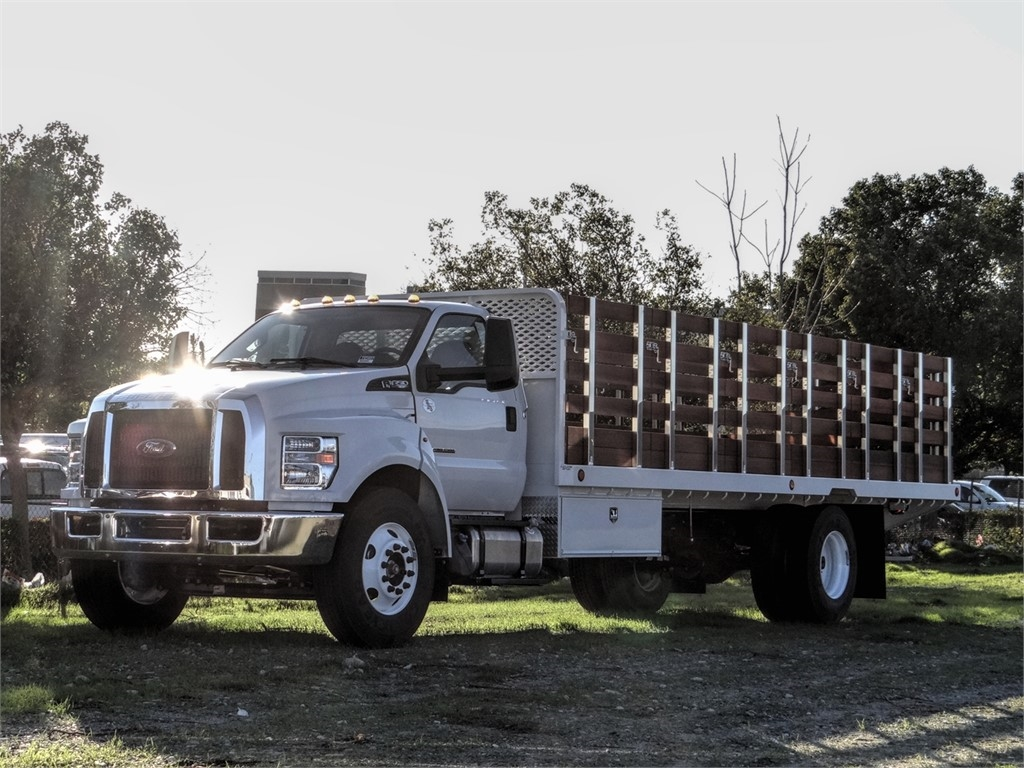 2019 F-650 Regular Cab DRW 4x2, Scelzi Stake Bed #FK5497 - photo 1