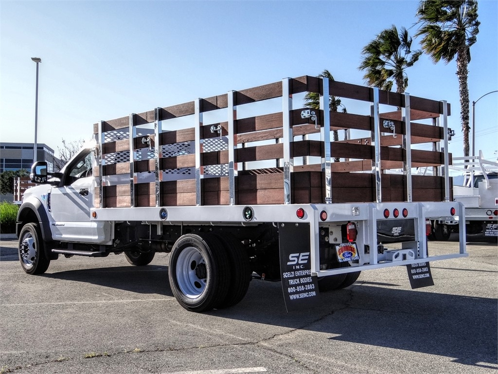 2019 F-450 Regular Cab DRW 4x2, Scelzi Stake Bed #FK5661 - photo 1
