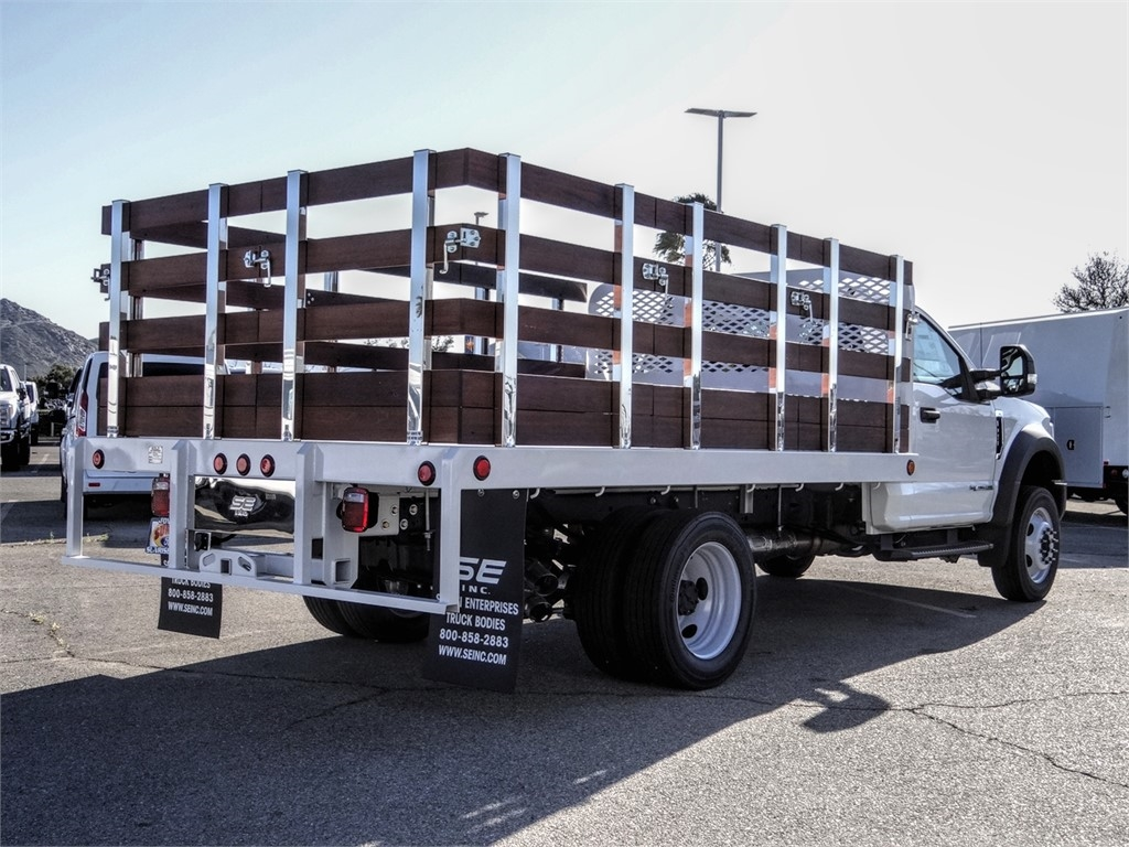 2019 F-450 Regular Cab DRW 4x2, Scelzi WFB Stake Bed #FK5661 - photo 4