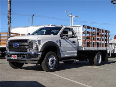 2019 F-450 Regular Cab DRW 4x2, Scelzi WFB Stake Bed #FK5661 - photo 1