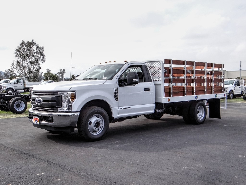 2019 F-350 Regular Cab DRW 4x2, Scelzi Stake Bed #FK5712 - photo 1