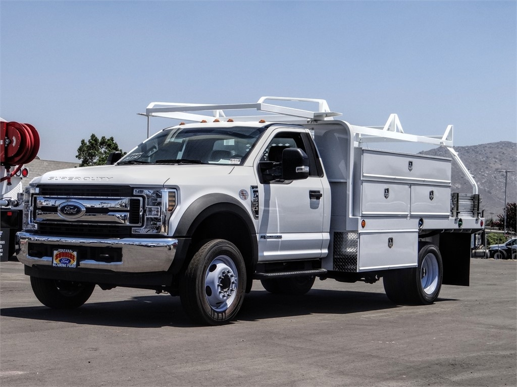 2019 Ford F-550 Regular Cab DRW 4x2, Scelzi SFB Contractor Body #FK5787DT - photo 1
