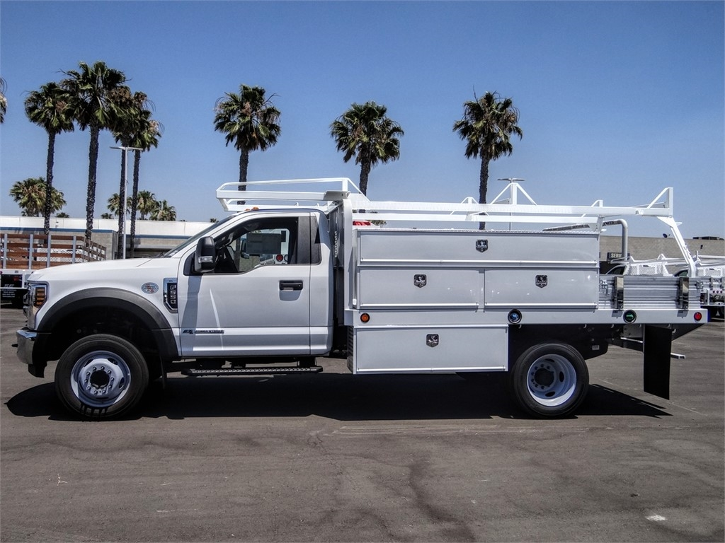 2019 Ford F-550 Regular Cab DRW 4x2, Scelzi SFB Contractor Body #FK5787DT - photo 3