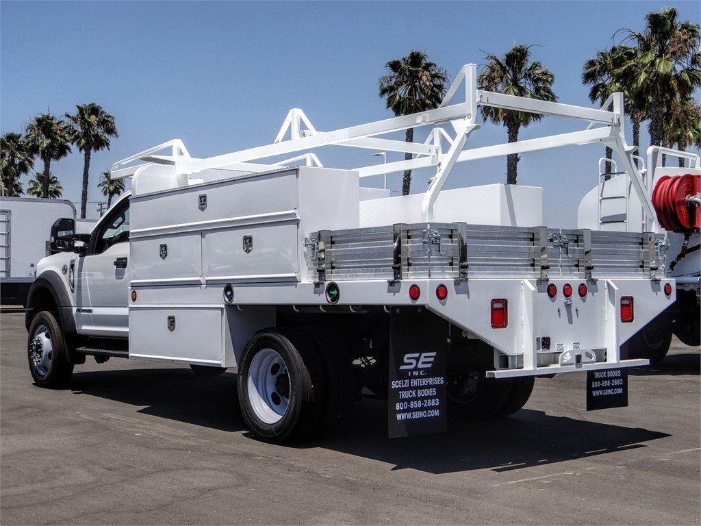 2019 Ford F-550 Regular Cab DRW 4x2, Scelzi SFB Contractor Body #FK5787DT - photo 2