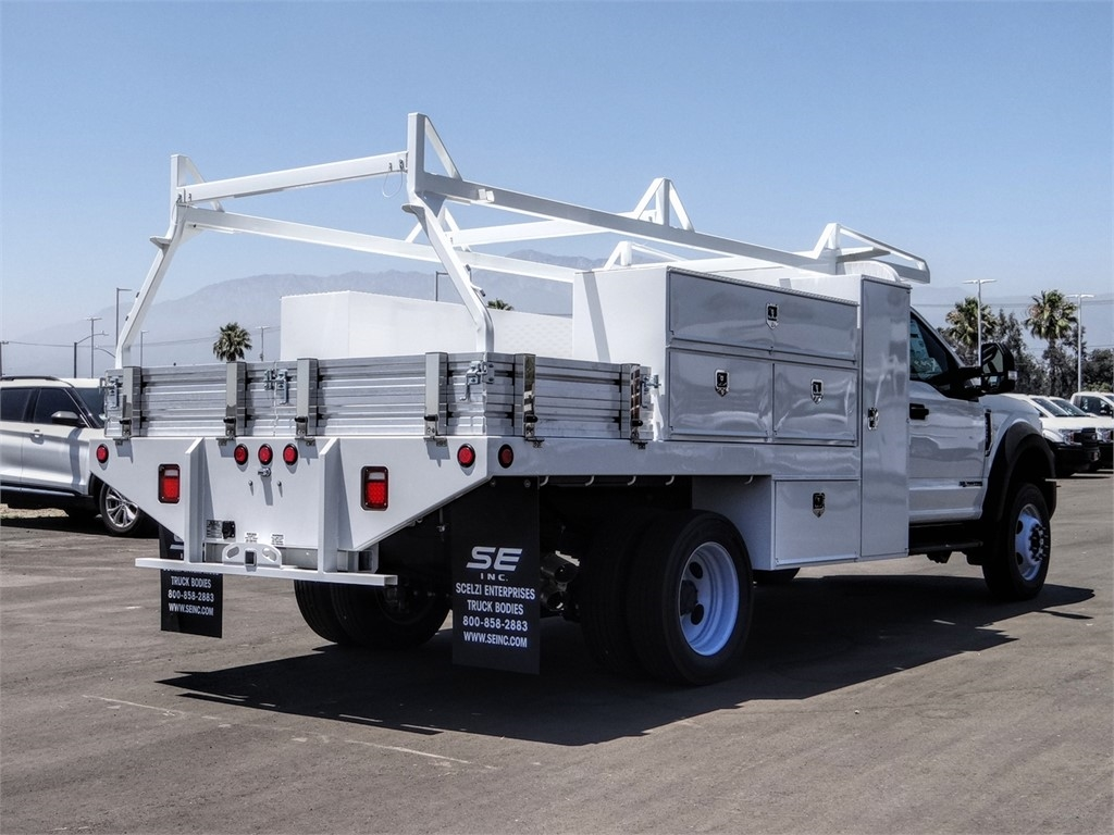 2019 Ford F-550 Regular Cab DRW 4x2, Scelzi SFB Contractor Body #FK5787DT - photo 4