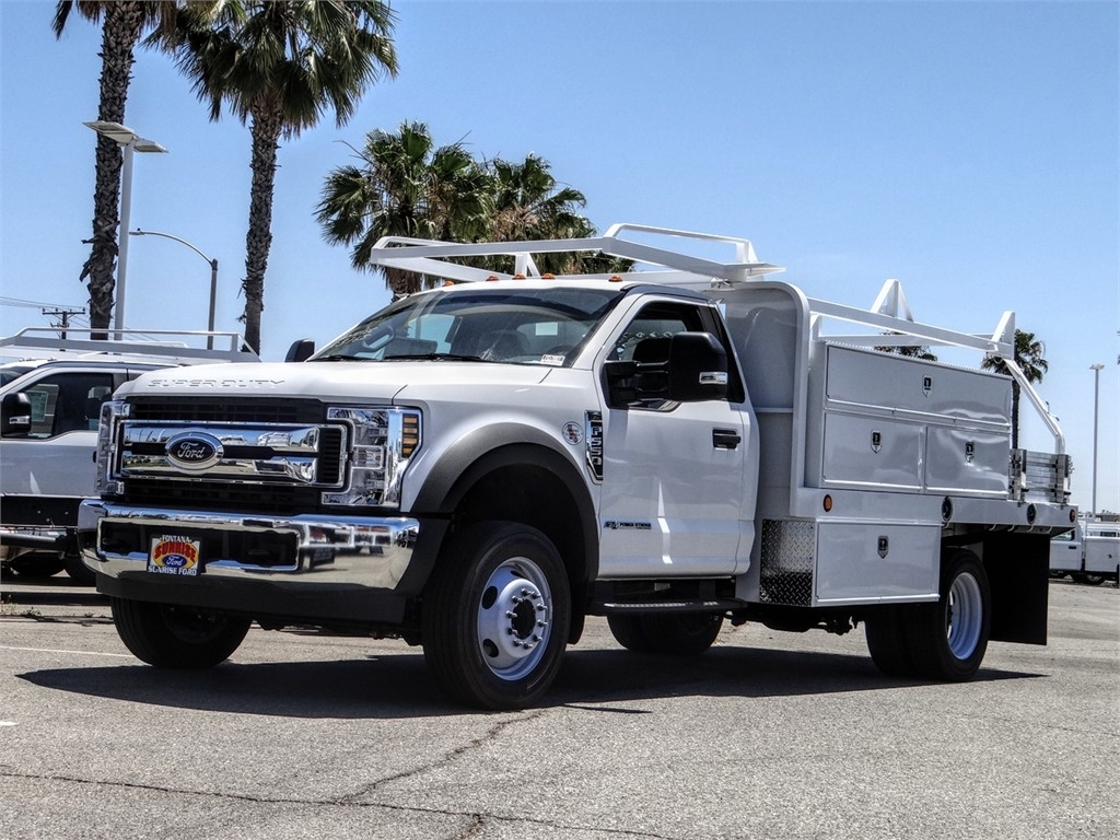 2019 Ford F-550 Regular Cab DRW 4x2, Scelzi Contractor Body #FK5788DT - photo 1