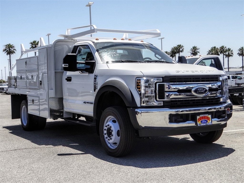 2019 Ford F-550 Regular Cab DRW 4x2, Scelzi SFB Contractor Body #FK5788DT - photo 6