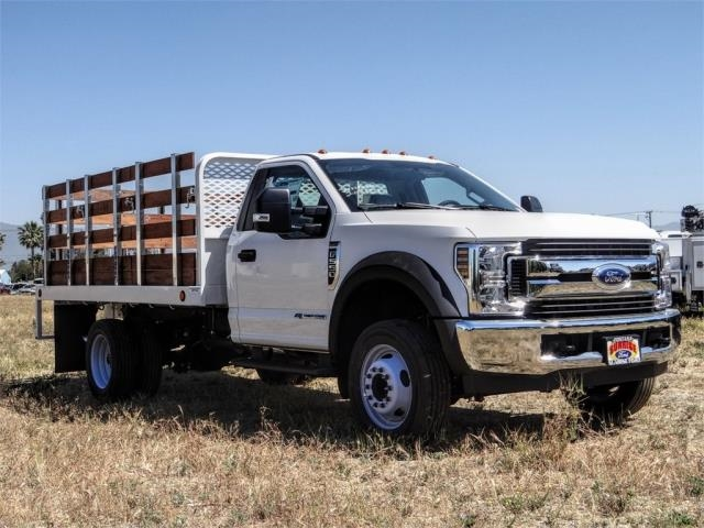 2019 Ford F-550 Regular Cab DRW 4x2, Scelzi WFB Stake Bed #FK5789DT - photo 6