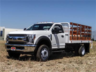 2019 Ford F-550 Regular Cab DRW 4x2, Scelzi WFB Stake Bed #FK5789DT - photo 1