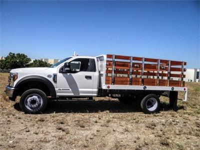 2019 Ford F-550 Regular Cab DRW 4x2, Scelzi WFB Stake Bed #FK5789DT - photo 3