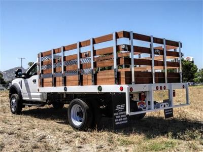 2019 Ford F-550 Regular Cab DRW 4x2, Scelzi WFB Stake Bed #FK5789DT - photo 2