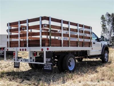 2019 Ford F-550 Regular Cab DRW 4x2, Scelzi WFB Stake Bed #FK5789DT - photo 4