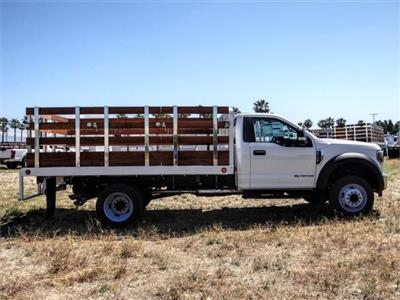 2019 Ford F-550 Regular Cab DRW 4x2, Scelzi WFB Stake Bed #FK5789DT - photo 5