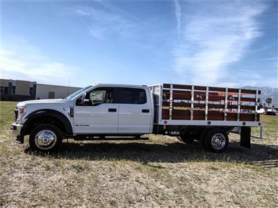 2020 Ford F-550 Crew Cab DRW 4x2, Scelzi WFB Stake Bed #FL1252 - photo 3