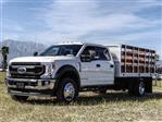 2020 Ford F-550 Crew Cab DRW 4x2, Scelzi WFB Stake Bed #FL1252 - photo 1
