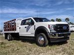 2020 Ford F-550 Crew Cab DRW 4x2, Scelzi WFB Stake Bed #FL1252 - photo 6