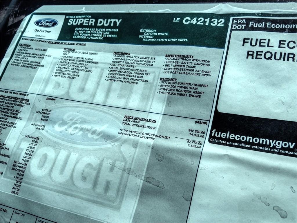 2020 Ford F-550 Super Cab DRW 4x2, Scelzi CTFB Contractor Body #FL1482 - photo 12