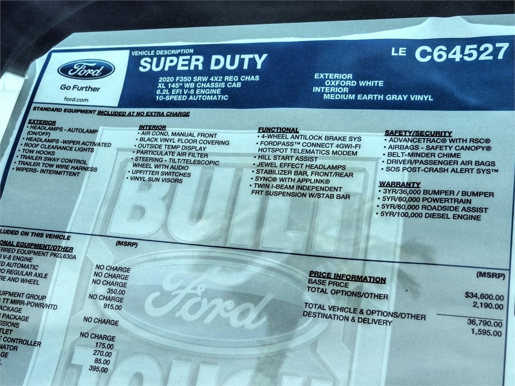 2020 Ford F-350 Regular Cab 4x2, Scelzi Signature Service Body #FL1621 - photo 11