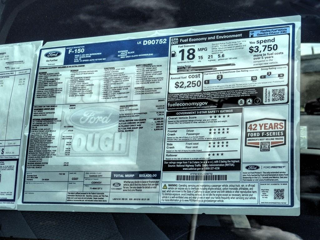 2020 F-150 SuperCrew Cab 4x4, Pickup #FL1754 - photo 33