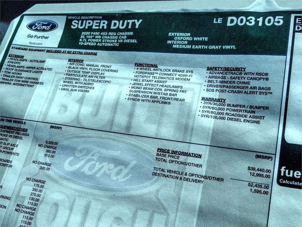 2020 Ford F-450 Regular Cab DRW 4x2, Scelzi WFB Stake Bed #FL1780 - photo 11