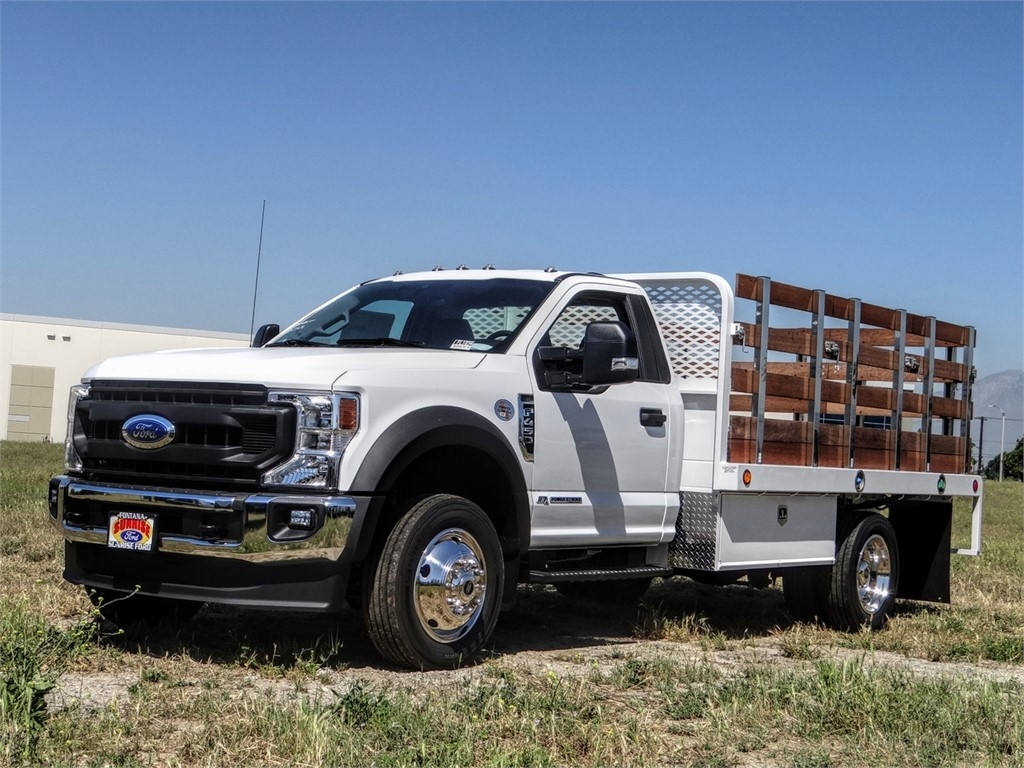 2020 Ford F-450 Regular Cab DRW 4x2, Scelzi WFB Stake Bed #FL1834 - photo 1