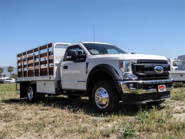 2020 Ford F-450 Regular Cab DRW 4x2, Scelzi WFB Stake Bed #FL1834 - photo 6
