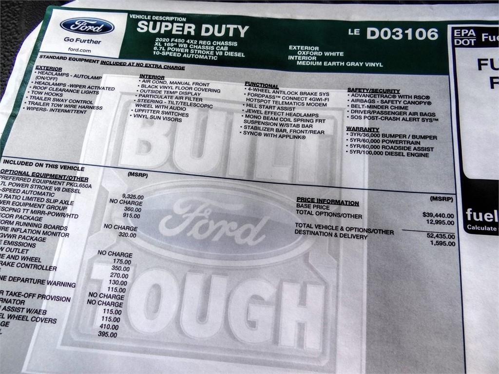 2020 Ford F-450 Regular Cab DRW 4x2, Scelzi WFB Flatbed #FL1835 - photo 11