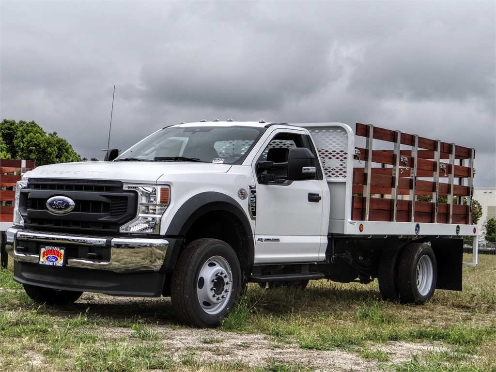 2020 Ford F-550 Regular Cab DRW 4x2, Scelzi WFB Stake Bed #FL2125 - photo 1