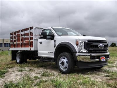 2020 Ford F-550 Regular Cab DRW 4x2, Scelzi WFB Stake Bed #FL2125 - photo 6