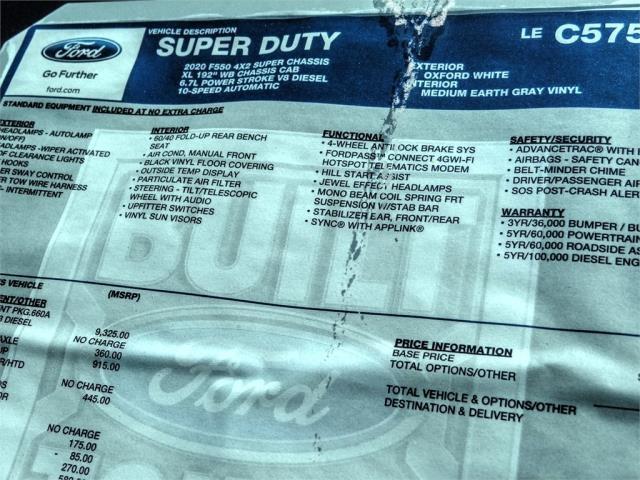 2020 Ford F-550 Super Cab DRW 4x2, Scelzi WFB Stake Bed #FL2135 - photo 11