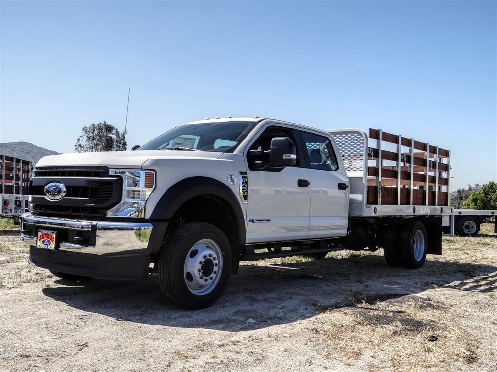2020 Ford F-450 Crew Cab DRW 4x2, Scelzi Stake Bed #FL2150 - photo 1