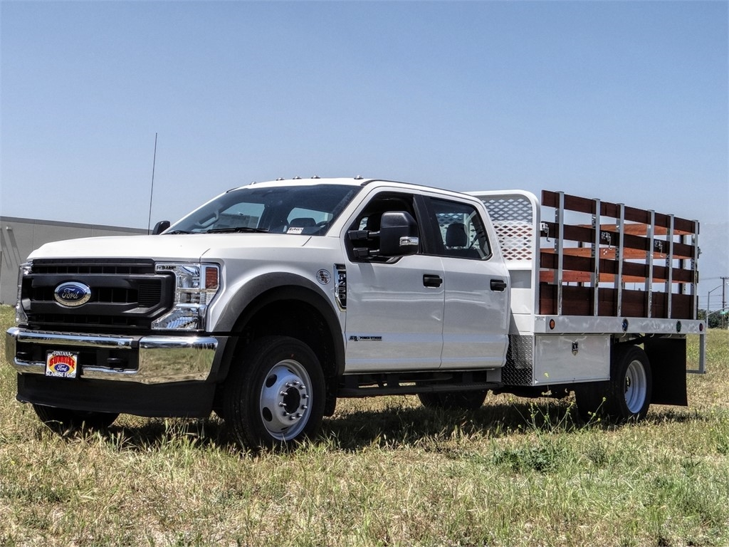 2020 Ford F-450 Crew Cab DRW 4x2, Scelzi WFB Stake Bed #FL2192 - photo 1