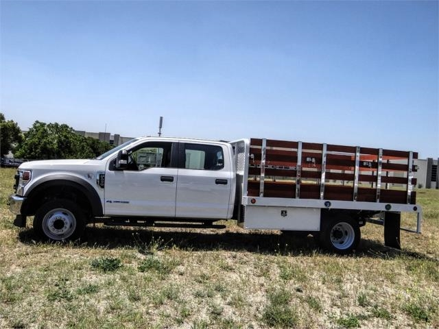 2020 Ford F-450 Crew Cab DRW 4x2, Scelzi WFB Stake Bed #FL2192 - photo 3