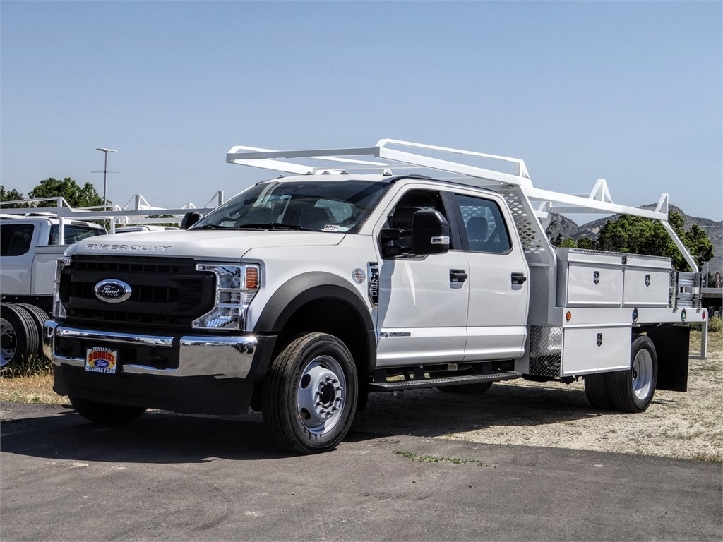 2020 Ford F-450 Crew Cab DRW 4x2, Scelzi CTFB Contractor Body #FL2199 - photo 1