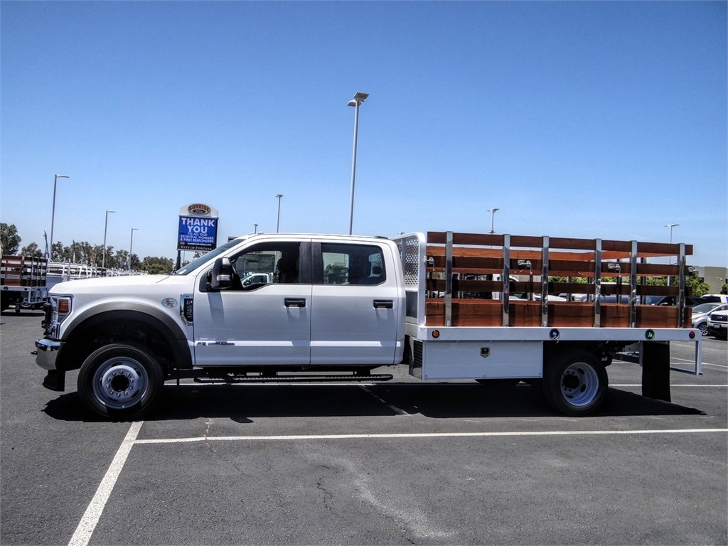 2020 Ford F-450 Crew Cab DRW 4x2, Scelzi WFB Stake Bed #FL2200 - photo 3
