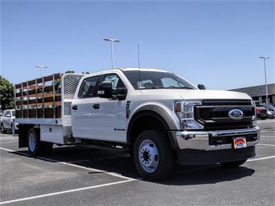 2020 Ford F-450 Crew Cab DRW 4x2, Scelzi WFB Stake Bed #FL2200 - photo 6