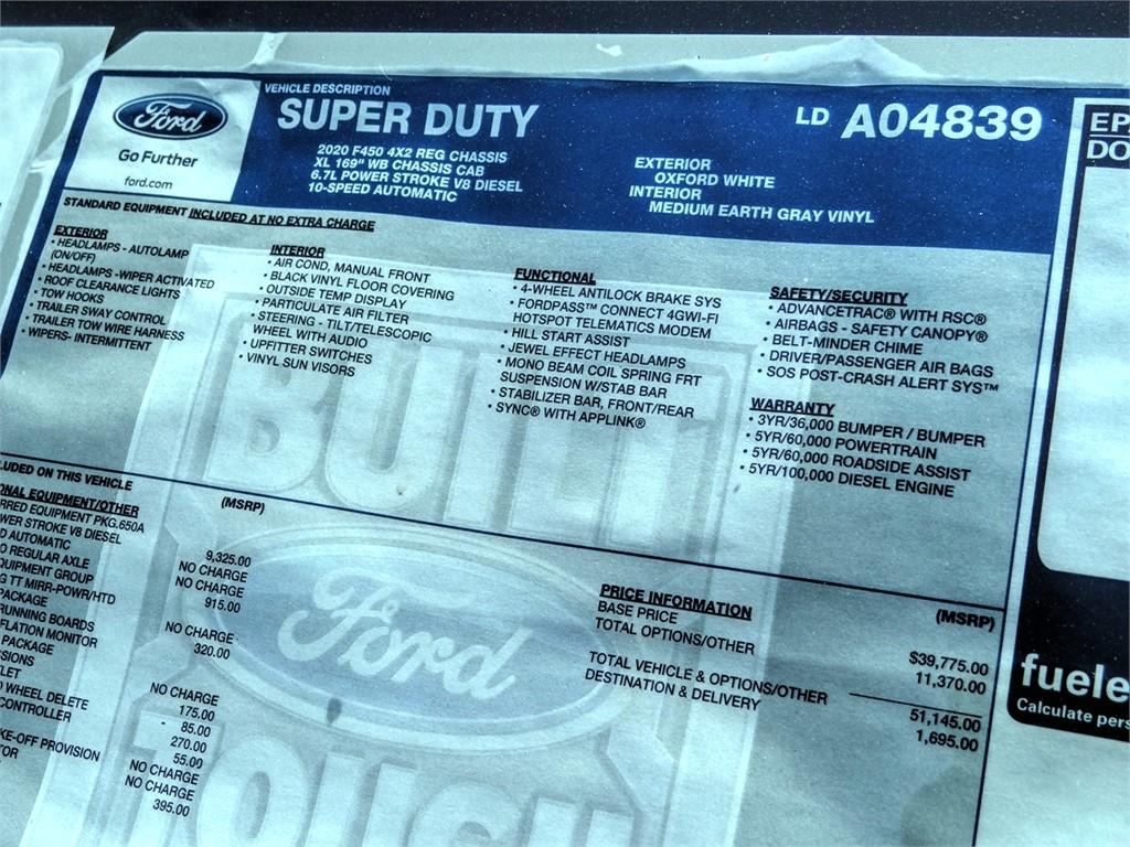 2020 F-450 Regular Cab DRW 4x2, Scelzi CTFB Contractor Body #FL2235 - photo 11