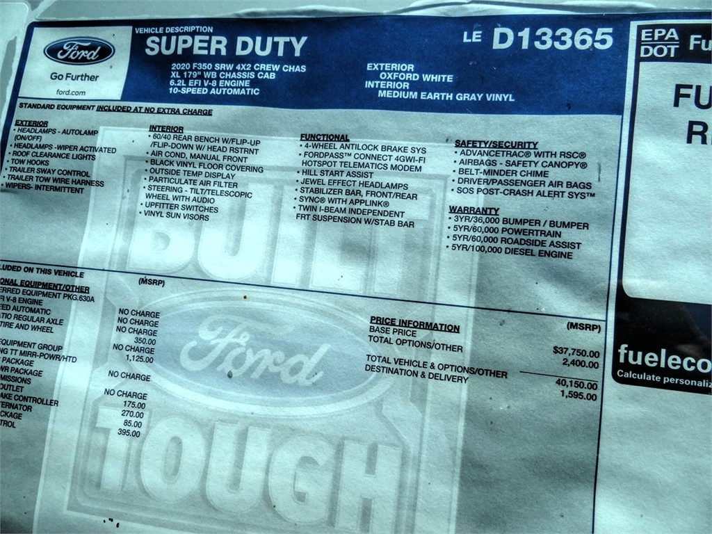 2020 Ford F-350 Crew Cab 4x2, Scelzi Signature Service Body #FL2240 - photo 11