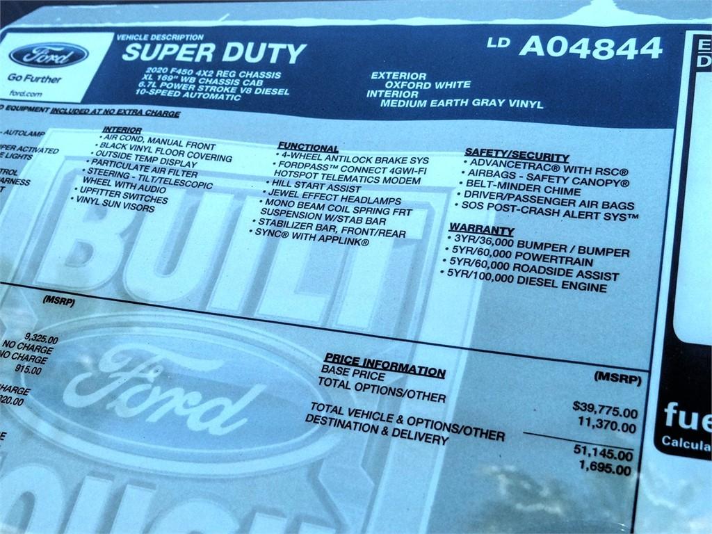 2020 F-450 Regular Cab DRW 4x2, Scelzi CTFB Contractor Body #FL2272 - photo 12