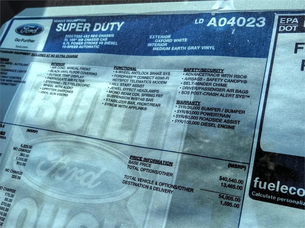 2020 Ford F-550 Regular Cab DRW 4x2, Scelzi Dump Body #FL2429 - photo 11