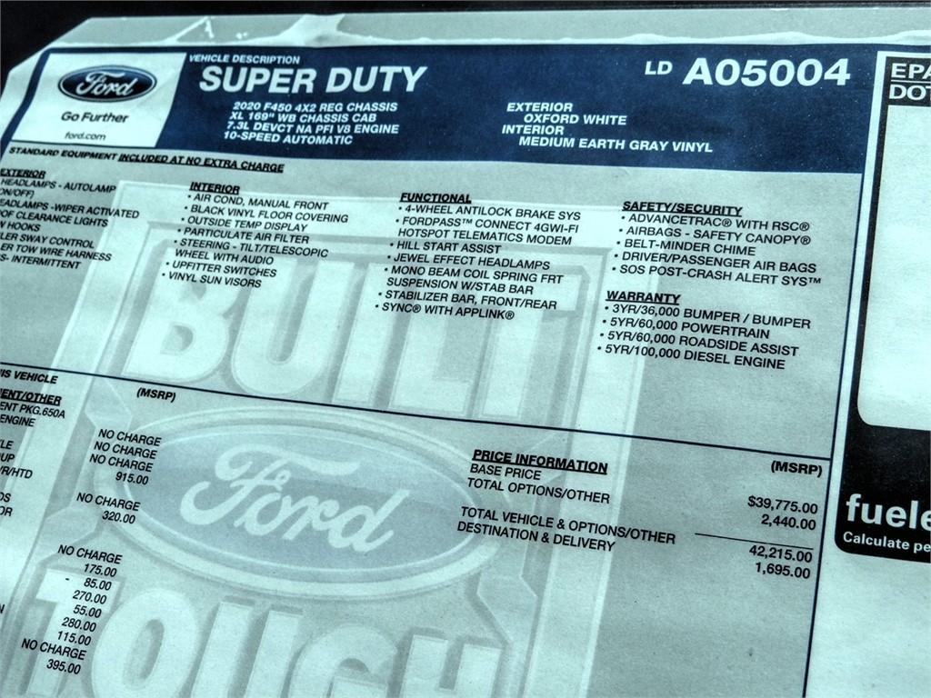 2020 Ford F-450 Regular Cab DRW 4x2, Scelzi WFB Stake Bed #FL2495 - photo 10