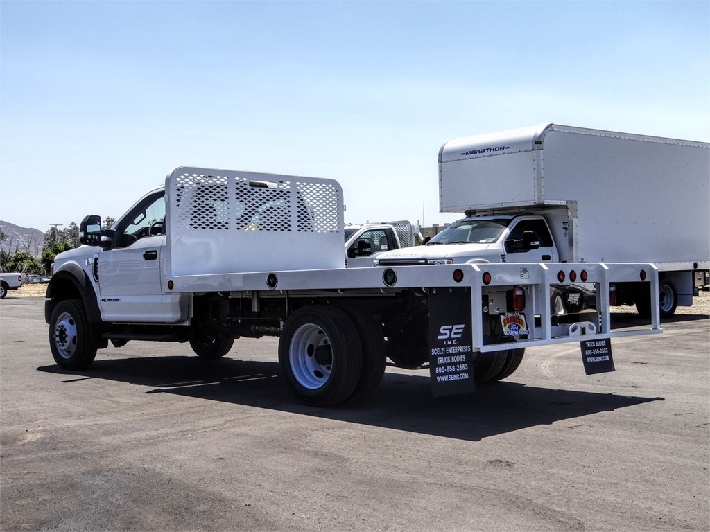 2020 Ford F-450 Regular Cab DRW 4x2, Scelzi WFB Flatbed #FL2628 - photo 2