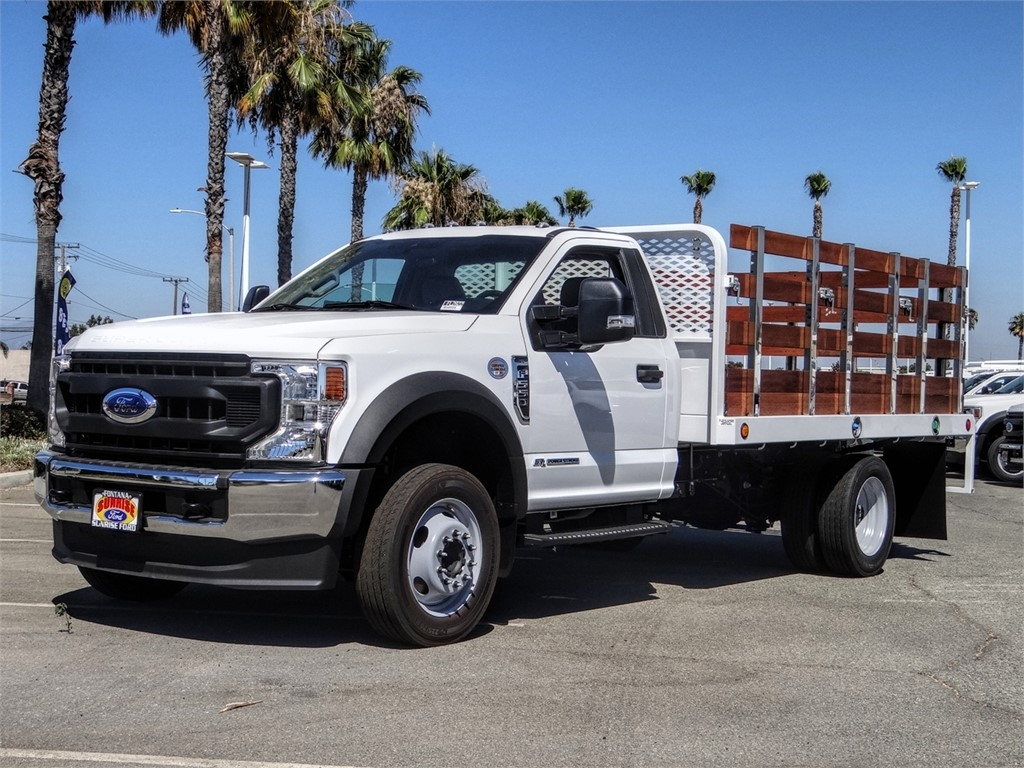 2020 Ford F-550 Regular Cab DRW 4x2, Scelzi WFB Flatbed #FL2822 - photo 1